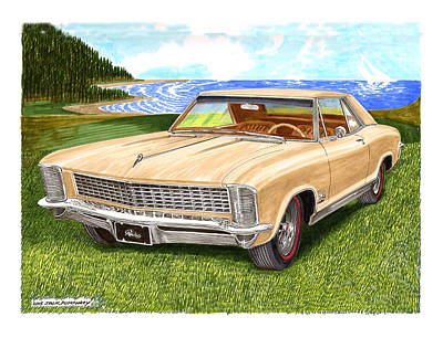 Pitch Painting - 1965 Buick Riviera G S by Jack Pumphrey