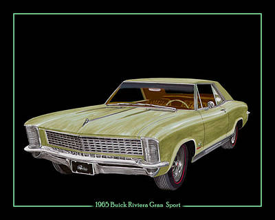Pitch Painting - 1965 Buick Riviera Gran Sport by Jack Pumphrey