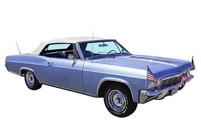 Antique Automobiles Photograph - 1965 Chevy Impala 327 Convertible by Keith Webber Jr