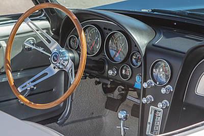 Car Photograph - 1965 Corvette Stingray Cockpit by J Darrell Hutto