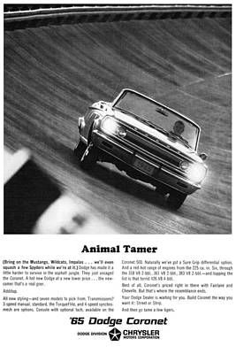 Car Digital Art - 1965 Dodge Coronet Convertible - Animal Tamer by Digital Repro Depot