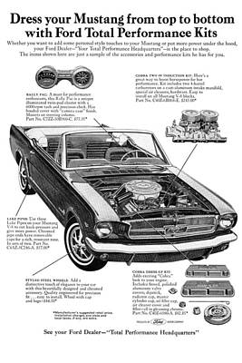 Mustang Digital Art - 1965 Ford Mustang Performance Kits by Digital Repro Depot