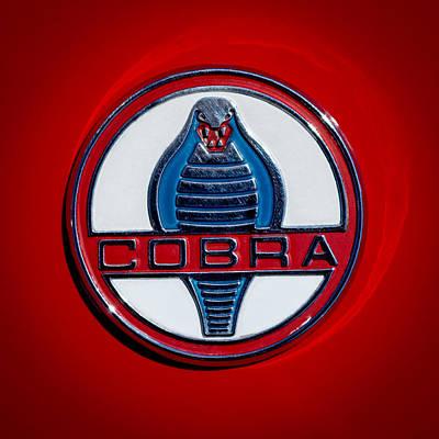 Shelby Cobra Photograph - 1965 Shelby Cobra Roadster 289 Emblem by Jill Reger