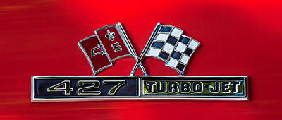1966 Chevrolet Corvette 427 Turbo-jet Emblem Print by Jill Reger