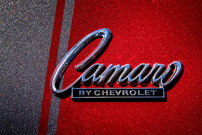 1966 Chevy Camaro Print by David Patterson