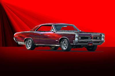 1966 Pontiac Gto 389 Tri-power Print by Dave Koontz