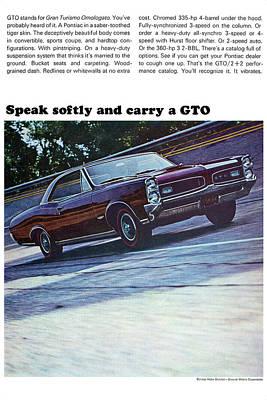 Advertisement Digital Art - 1966 Pontiac Gto by Digital Repro Depot