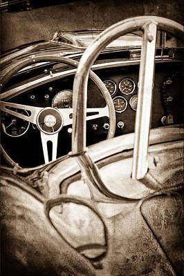 1966 Shelby 427 Cobra Steering Wheel Emblem Print by Jill Reger