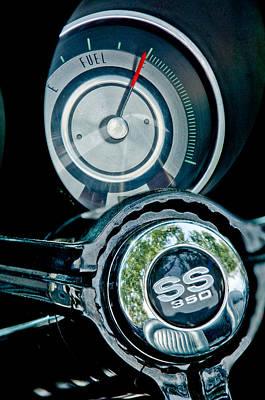 1967 Chevrolet Camaro  Ss Steering Wheel Emblem Emblem Print by Jill Reger
