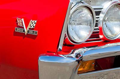 1967 Chevrolet Chevelle Ss Emblem Print by Jill Reger