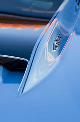 1967 Chevrolet Corvette 427 Hood Emblem 3 Print by Jill Reger