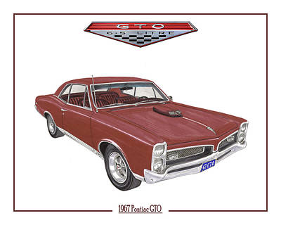 1967 G T O Pontiac Print by Jack Pumphrey