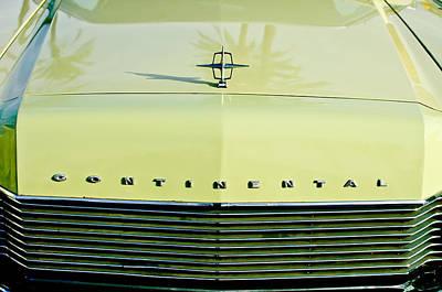 1967 Lincoln Continental Grille Emblem - Hood Ornament Print by Jill Reger