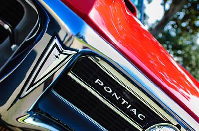 Pontiac Photograph - 1967 Pontiac Firebird Grille Emblem by Jill Reger