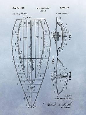 1967 Sailboat Patent Print by Dan Sproul
