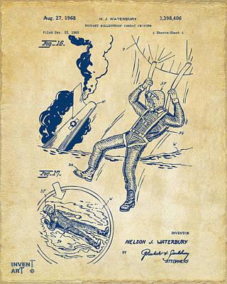 1968 Bulletproof Patent Artwork Figure 16 Vintage Print by Nikki Marie Smith