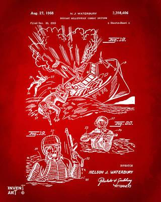 1968 Bulletproof Patent Artwork Figure 18 Red Print by Nikki Marie Smith