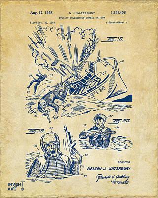 1968 Bulletproof Patent Artwork Figure 18 Vintage Print by Nikki Marie Smith