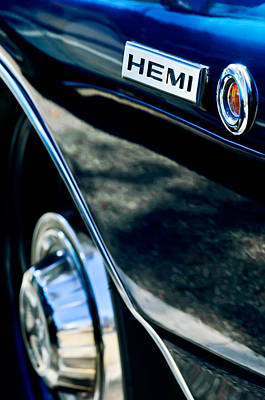 1968 Photograph - 1968 Dodge Charger Rt Coupe 426 Hemi Upgrade Emblem by Jill Reger
