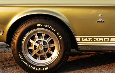 1968 G.t. 350 Shelby Cobra Ford Mustang Print by Gordon Dean II