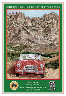 1968 M G B Mountain Rallying Print by Jack Pumphrey