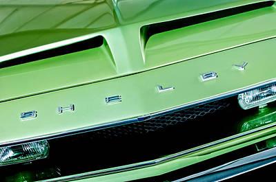 1968 Photograph - 1968 Shelby Gt 500 Kr Fastback Grille Emblem by Jill Reger