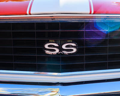 Indy Car Photograph - 1969 Chevrolet Camaro Rs-ss Indy Pace Car Replica Grille Emblem by Jill Reger