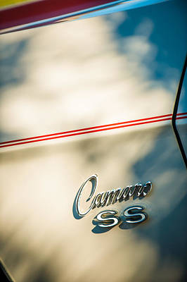 Indy Car Photograph - 1969 Chevrolet Camaro Rs-ss Indy Pace Car Replica Side Emblem by Jill Reger