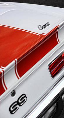 1969 Chevrolet Camaro Ss Indianapolis 500 Pace Car Rear Shot Original by Gordon Dean II