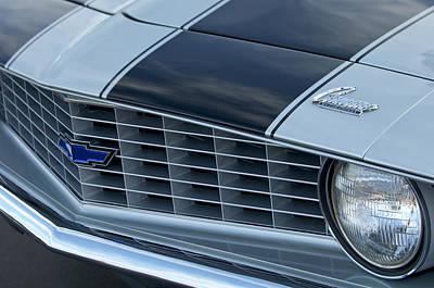 Camaro Photograph - 1969 Chevrolet Camaro Z 28 Grille Emblem by Jill Reger