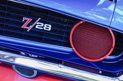 1969 Chevrolet Camaro Z28 Grille Emblem Print by Jill Reger