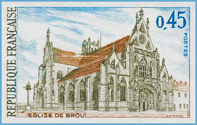 1969 Church Of Brou Print by Lanjee Chee