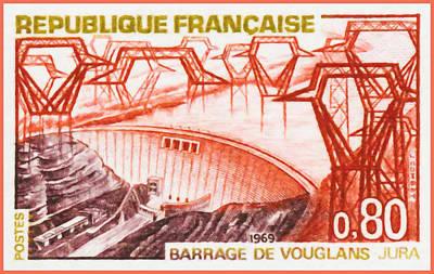 Pylon Painting - 1969 Dam Vouglans - Jura by Lanjee Chee