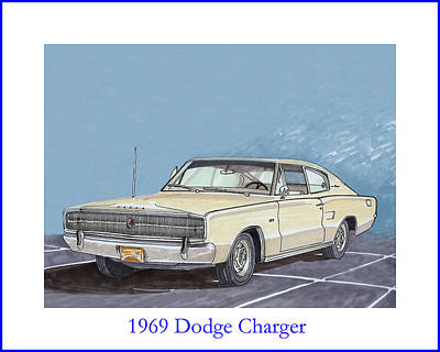 Viper Painting - 1966 Dodge Charger by Jack Pumphrey