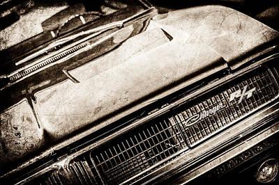 1969 Photograph - 1969 Dodge Charger R-t Emblem -1135s by Jill Reger