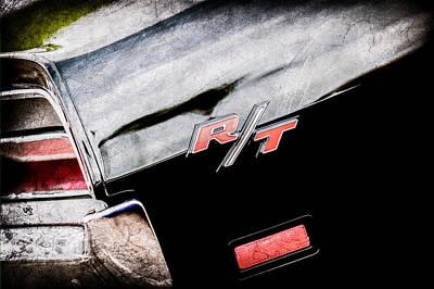 1969 Photograph - 1969 Dodge Charger Rt Rear Emblem -0541ac by Jill Reger