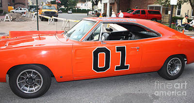 The General Lee Photograph - 1969 Dodge General Lee by John Telfer