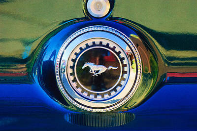 1969 Ford Mustang 302 Emblem Print by Jill Reger