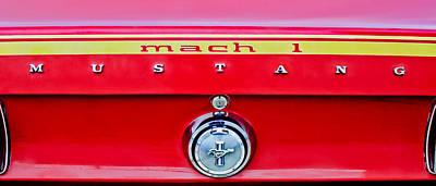 1969 Photograph - 1969 Ford Mustang Mach 1 Rear Emblems by Jill Reger