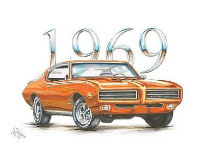 1969 Pontiac Gto Judge Print by Shannon Watts