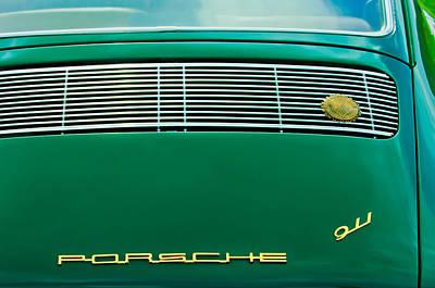 1969 Photograph - 1969 Porsche 911 Targa Rear Emblems -1258c by Jill Reger