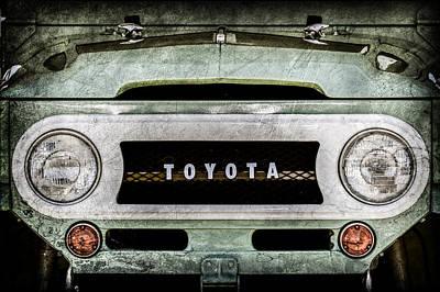 1969 Toyota Fj-40 Land Cruiser Grille Emblem -0444ac Print by Jill Reger