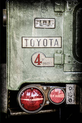 1969 Toyota Fj-40 Land Cruiser Taillight Emblem -0417ac Print by Jill Reger