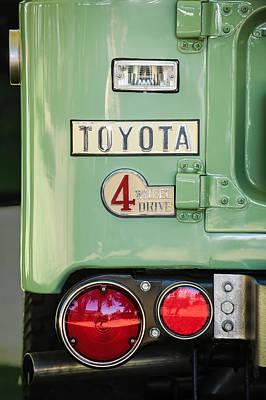 Cruiser Photograph - 1969 Toyota Fj-40 Land Cruiser Taillight Emblem -0417c by Jill Reger