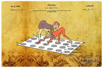 1969 Twister Patent Art 3 Print by Nishanth Gopinathan