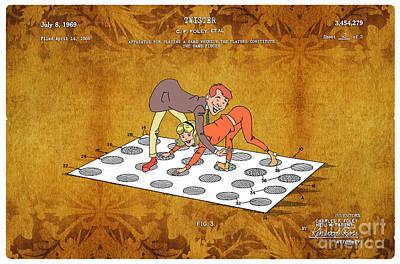 1969 Twister Patent Art 4 Print by Nishanth Gopinathan