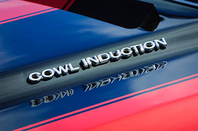 1970 Chevrolet Chevelle Ss Cowl Induction Emblem Print by Jill Reger