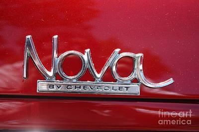 Telfer Photograph - 1970 Chevy Nova Logo by John Telfer