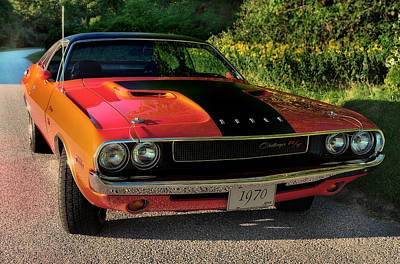 1970 Dodge Challenger Rt Print by Thomas Schoeller