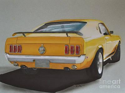 1970 Mustang Fastback Print by Paul Kuras